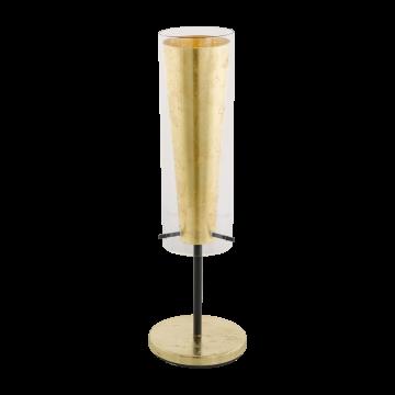 Настольная лампа Eglo Pinto Gold 97654, 1xE27x60W, матовое золото, прозрачный, металл, стекло