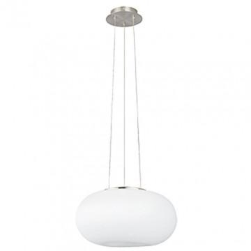 Подвесной светодиодный светильник с пультом ДУ Eglo Connect Optica-C 75354, LED 15W, никель, белый, металл, стекло