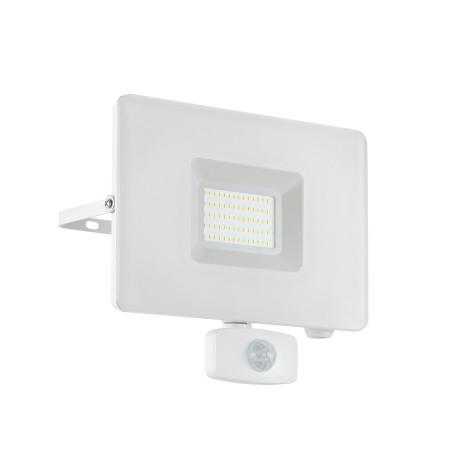 Светодиодный прожектор Eglo Faedo 3 33159, IP44, LED 50W 5000K 4800lm, белый, металл, металл со стеклом, стекло