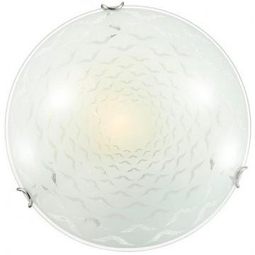 Потолочный светильник Sonex Dori 119/K, 2xE27x60W, хром, матовый, прозрачный, металл, стекло