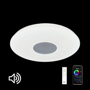 Музыкальный потолочный светодиодный светильник с пультом ДУ Citilux Старлайт CL703M50, LED 60W 3000-4200K + RGB 3500lm, белый, металл, пластик - миниатюра 2
