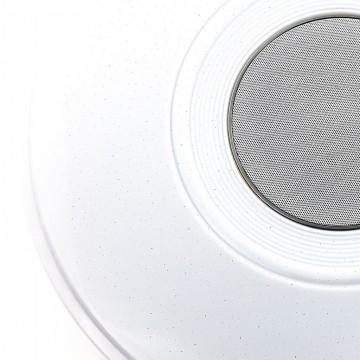 Музыкальный потолочный светодиодный светильник с пультом ДУ Citilux Старлайт CL703M50, LED 60W 3000-4200K + RGB 3500lm, белый, металл, пластик - миниатюра 3