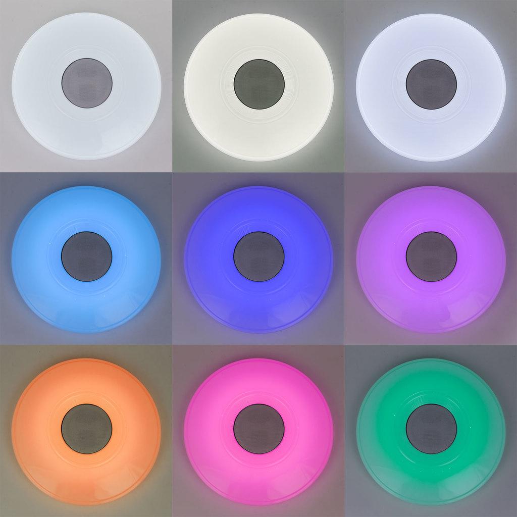 Музыкальный потолочный светодиодный светильник с пультом ДУ Citilux Старлайт CL703M50, LED 60W 3000-4200K + RGB 3500lm, белый, металл, пластик - фото 4