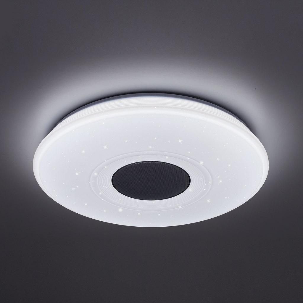 Музыкальный потолочный светодиодный светильник с пультом ДУ Citilux Старлайт CL703M50, LED 60W 3000-4200K + RGB 3500lm, белый, металл, пластик - фото 5