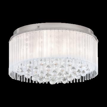 Потолочная люстра Eglo Montesilvano 39332, хром, прозрачный, металл, стекло