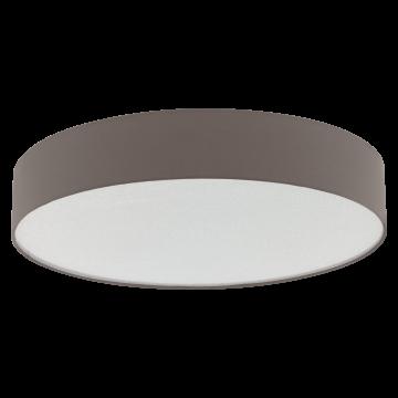 Потолочный светильник Eglo Escorial 39423, белый, коричневый, металл, текстиль