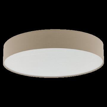 Потолочный светильник Eglo Escorial 39424, белый, коричневый, металл, текстиль
