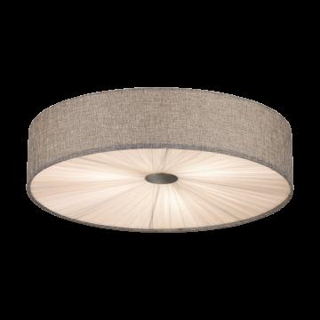 Потолочный светильник Eglo Fungino 39442, белый, серый, металл, текстиль