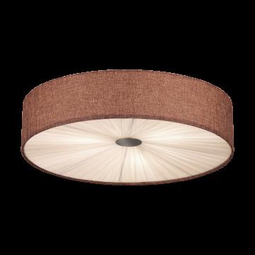 Потолочный светильник Eglo Fungino 39445, белый, коричневый, металл, текстиль