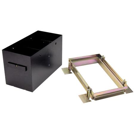 Основание встраиваемого светильника SLV AIXLIGHT® PRO, 2 FRAMELESS 115152, черный, металл