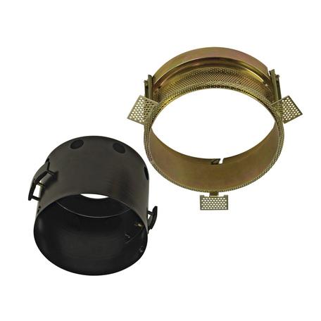 Основание встраиваемого светильника SLV AIXLIGHT® PRO, 1 FLAT FRAMELESS ROUND 115624, черный, металл