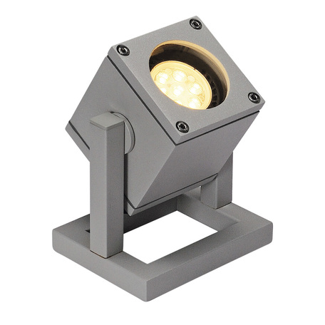 Прожектор SLV CUBIX 132832, IP44, 1xGU10x25W, серый, металл