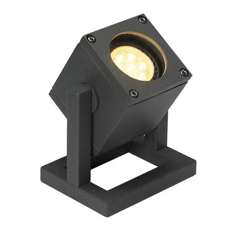 Прожектор SLV CUBIX 132835, IP44, 1xGU10x25W, серый