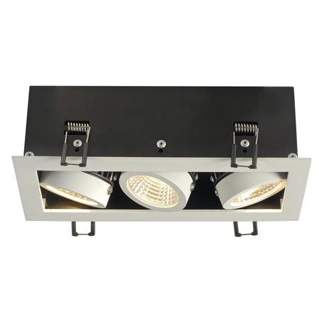 Встраиваемый светодиодный светильник SLV KADUX 3 LED 115721, LED 3000K, белый