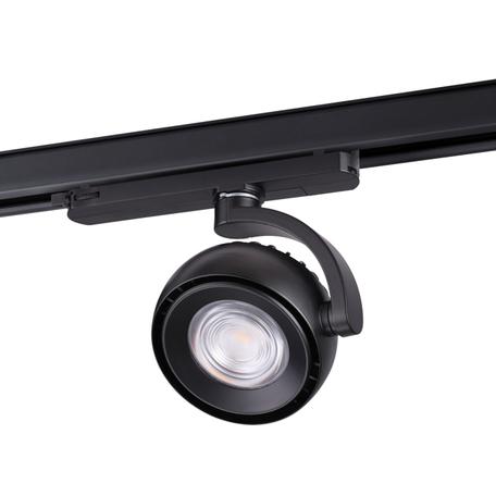 Светодиодный светильник с регулировкой направления света для шинной системы Novotech Port Curl 358166, LED 20W 4000K 2200lm, черный, металл