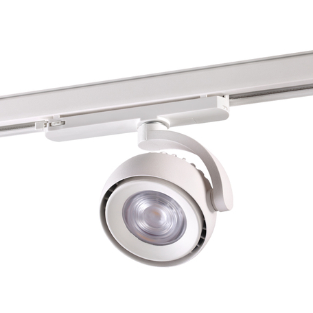 Светодиодный светильник с регулировкой направления света для шинной системы Novotech Curl 358167, LED 20W 4000K 2200lm, белый, металл