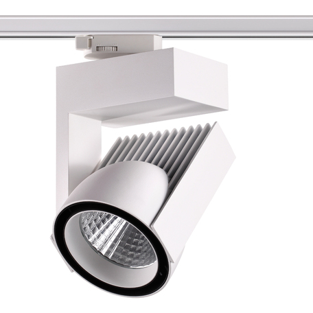 Светодиодный светильник с регулировкой направления света для шинной системы Novotech Port Helix 358199, LED 45W 4000K 4500lm, белый, черно-белый, металл