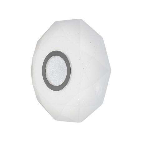 Потолочный светодиодный светильник Citilux Диамант CL71310, IP44 3000K (теплый), белый, хром, металл, пластик