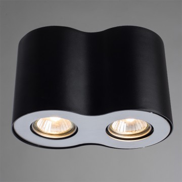 Потолочный светильник Arte Lamp Instyle Falcon A5633PL-2BK, 2xGU10x50W, черный, металл