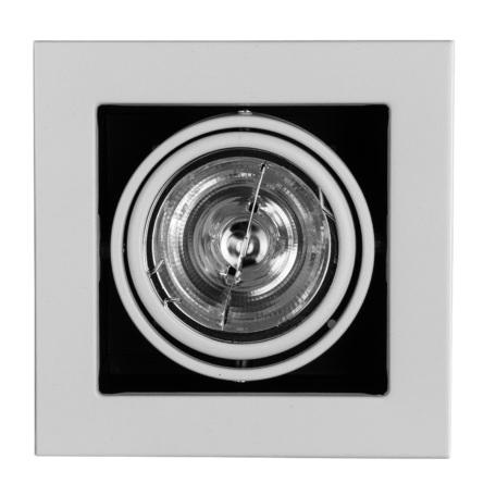 Встраиваемый светильник Arte Lamp Instyle Cardani Medio A5930PL-1WH, 1xG53AR111x50W, черный, белый, металл
