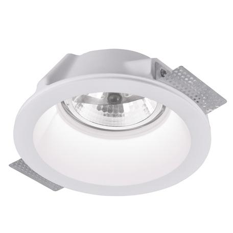 Встраиваемый светильник Arte Lamp Instyle Invisible A9270PL-1WH, 1xG53AR111x50W, белый, под покраску, гипс