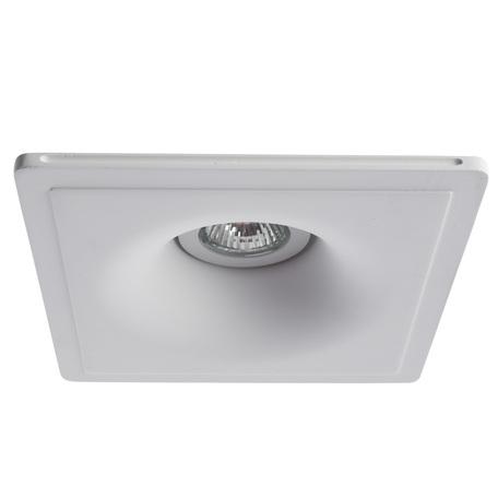 Встраиваемый светильник Arte Lamp Instyle Invisible A9410PL-1WH, 1xGU10x35W, белый, под покраску, гипс