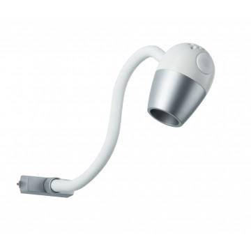 Светодиодный светильник для шинной системы Paulmann URail LED Knob 95453, LED 5,5W, белый, матовый хром, пластик, металл