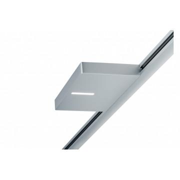 Светодиодный светильник Paulmann URail LED Spot Uplight Squared 95323, LED 16W, матовый хром, металл