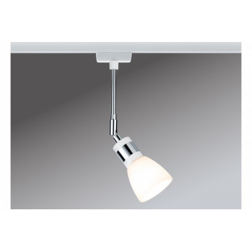 Светильник с регулировкой направления света Paulmann URail LED Spot Titurel II 95308, 1xG9x2,2W, матовый хром, белый, металл, стекло
