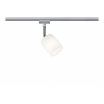 Светильник с регулировкой направления света Paulmann URail Spot Blossom 95337, 1xG9x10W, матовый хром, белый, металл, стекло