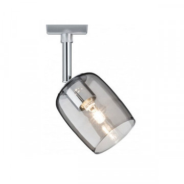 Светильник с регулировкой направления света Paulmann URail Spot Blossom 95339, 1xG9x10W, матовый хром, дымчатый, прозрачный, металл, стекло