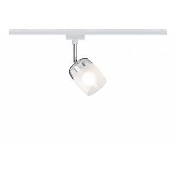 Светильник с регулировкой направления света Paulmann URail Spot Blossom 95343, 1xG9x10W, хром, белый, металл, стекло