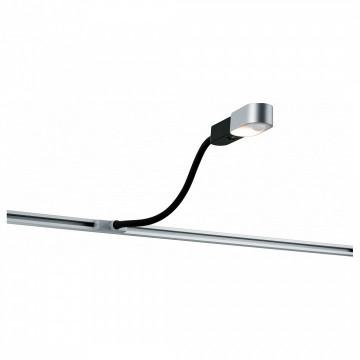 Светодиодный светильник для шинной системы Paulmann URail LED Torch 95452, LED 5,5W, черный, матовый хром, пластик, металл