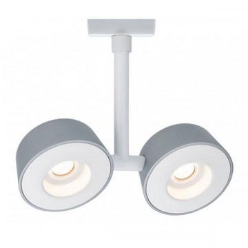 Светодиодный светильник с регулировкой направления света Paulmann URail Spot Double Pellet 95472, LED 13,4W, матовый хром, металл