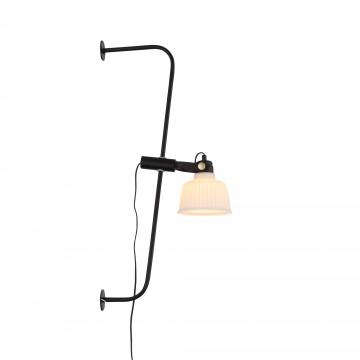 Бра с регулировкой направления света ST Luce Aletante SL714.411.01, 1xE27x60W, черный, белый, металл, стекло