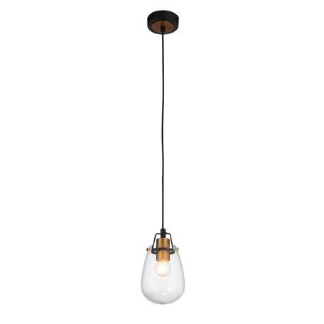 Подвесной светильник ST Luce Buneve SL428.403.01, 1xE27x40W, черный, прозрачный, металл, стекло
