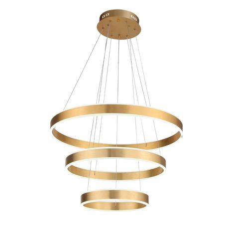 Подвесной светодиодный светильник ST Luce Onze SL944.203.03, LED 113W 3000-6000K 4115lm, матовое золото, металл, металл с пластиком
