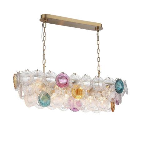 Подвесной светильник ST Luce Coneli SL420.203.14, 14xE14x40W, золото, разноцветный, металл, стекло