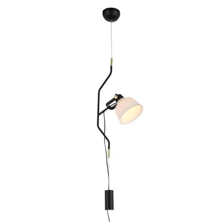 Подвесной светильник с регулировкой направления света ST Luce Aletante SL714.413.01, 1xE27x60W, черный, белый, металл, стекло