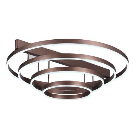 Потолочный светодиодный светильник ST Luce Onze SL944.202.04, LED 84W 3000-6000K 3487lm, коричневый, металл, металл с пластиком