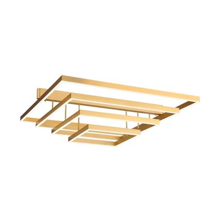 Потолочный светодиодный светильник ST Luce Piazza SL945.202.04, LED 102W 3000-6000K 4581lm, матовое золото, металл, металл с пластиком
