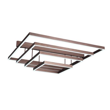 Потолочный светодиодный светильник ST Luce Piazza SL945.402.04, LED 102W 3000-6000K 4581lm, коричневый, металл, металл с пластиком