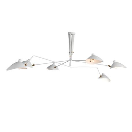 Потолочная люстра с регулировкой направления света ST Luce Spruzzo SL305.502.06, 5xE27x40W, белый, металл