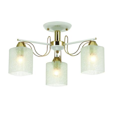 Потолочная люстра Lumion Comfi Opicus 3508/3C, 3xE27x60W, золото, белый, металл, стекло