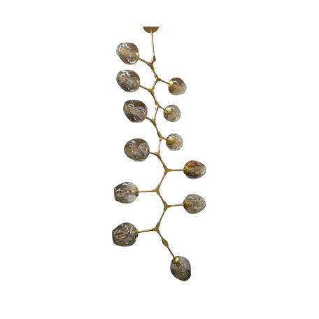 Потолочная люстра Kink Light Нисса 07512-12,33, 12xE27x40W, золото, янтарь, металл, стекло