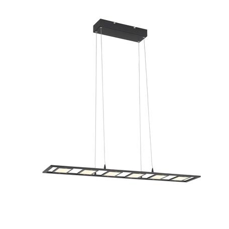 Подвесной светодиодный светильник ST Luce Elicano SL842.403.06, LED 48W 4000K 2400lm, черный, черно-белый, металл, металл с пластиком