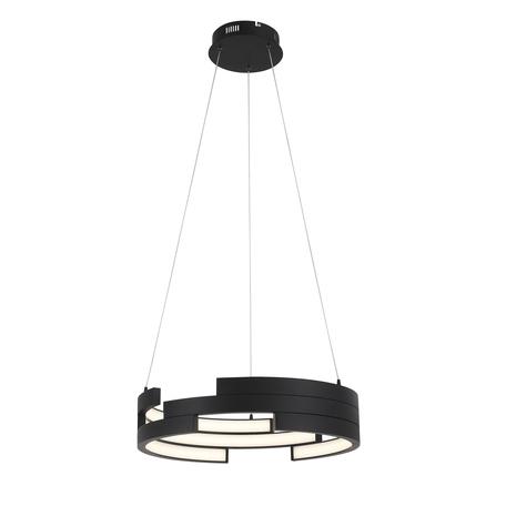 Подвесной светодиодный светильник ST Luce Genuine SL963.403.01, LED 45W 3000K 2920lm, черный, металл