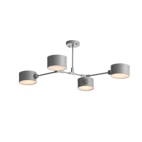 Потолочная люстра Evoluce Gimento SLE183702-04, 4xE14x60W, черный, серый, металл