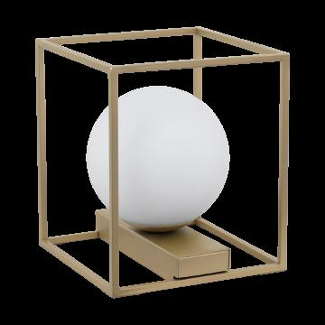Настольная лампа Eglo Vallaspra 97794, 1xE14x40W, матовое золото, белый, металл, стекло