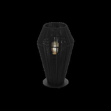 Настольная лампа Eglo Palmones 97796, 1xE27x60W, черный, металл, текстиль